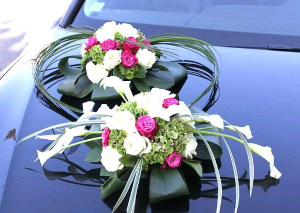 decoration voiture mariage rose id es et d 39 inspiration sur le mariage. Black Bedroom Furniture Sets. Home Design Ideas